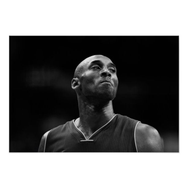 Kobe Bryant | Black White Picture Print | Zazzle.com