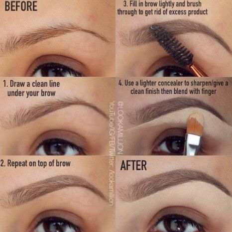 How To Fill Your Brows Like A Pro ! ☺️ #Beauty #Trusper #Tip