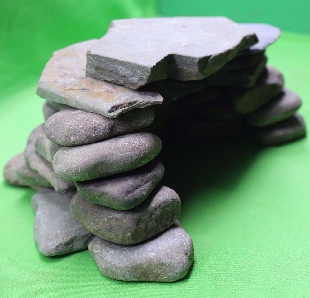 Aquarium natural river stone cave stacking rocks kit for Aquarium cave decoration