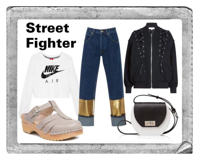 """Street Fighter"" by troentorp ❤ liked on Polyvore featuring Polaroid, IRO, NIKE, Loewe, Joanna Maxham and Troentorp"