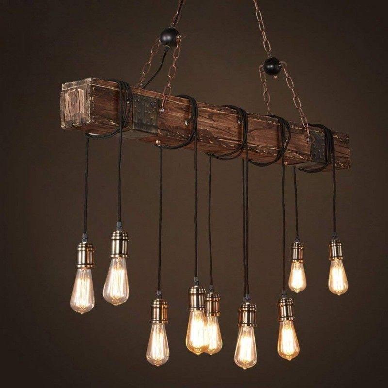 Vintage Leuchte Retro Deckenlampe Pendelleuchte Kronleuchter Hängelampe Eisen DE
