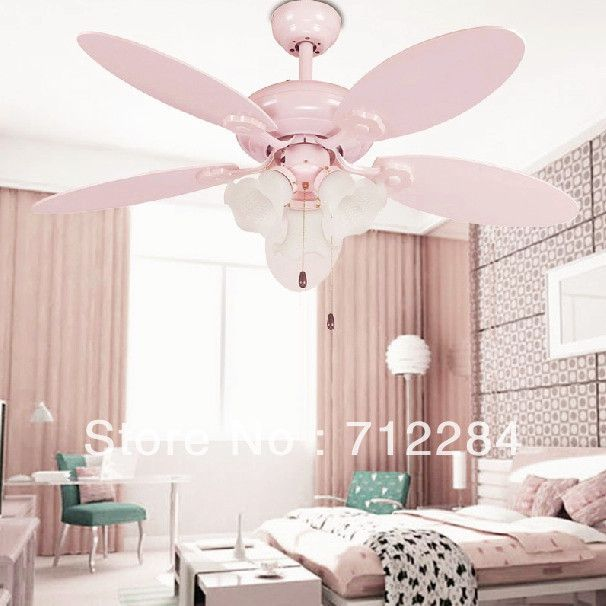 Pink Ceiling Fans With Lights For Pink Girl Bedroom