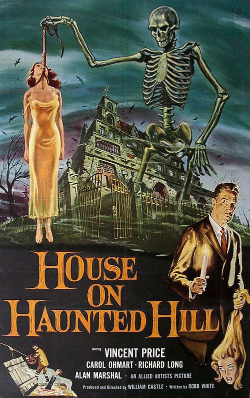 Public Domain Movies Feature Films Public Domain Movies Classic Horror Movies Posters House On Haunted Hill Classic Horror Movies
