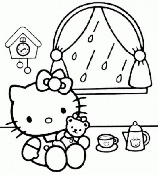 Free Printable Baby Hello Kitty Coloring Pages For Kids Picture 17 550x607 Picture Hello Kitty Coloring Hello Kitty Colouring Pages Kitty Coloring