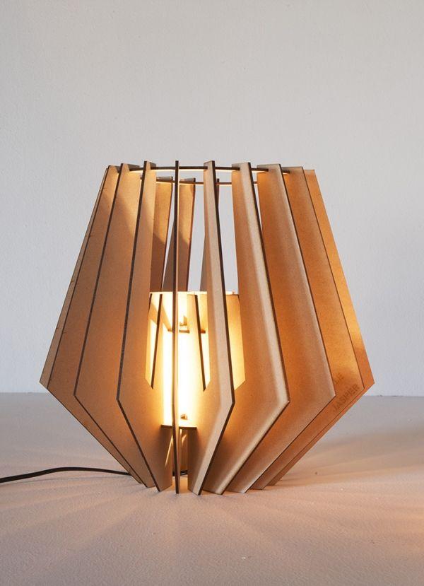 Mini Spot Wooden Table Lamp By Van Tjalle En Jasper