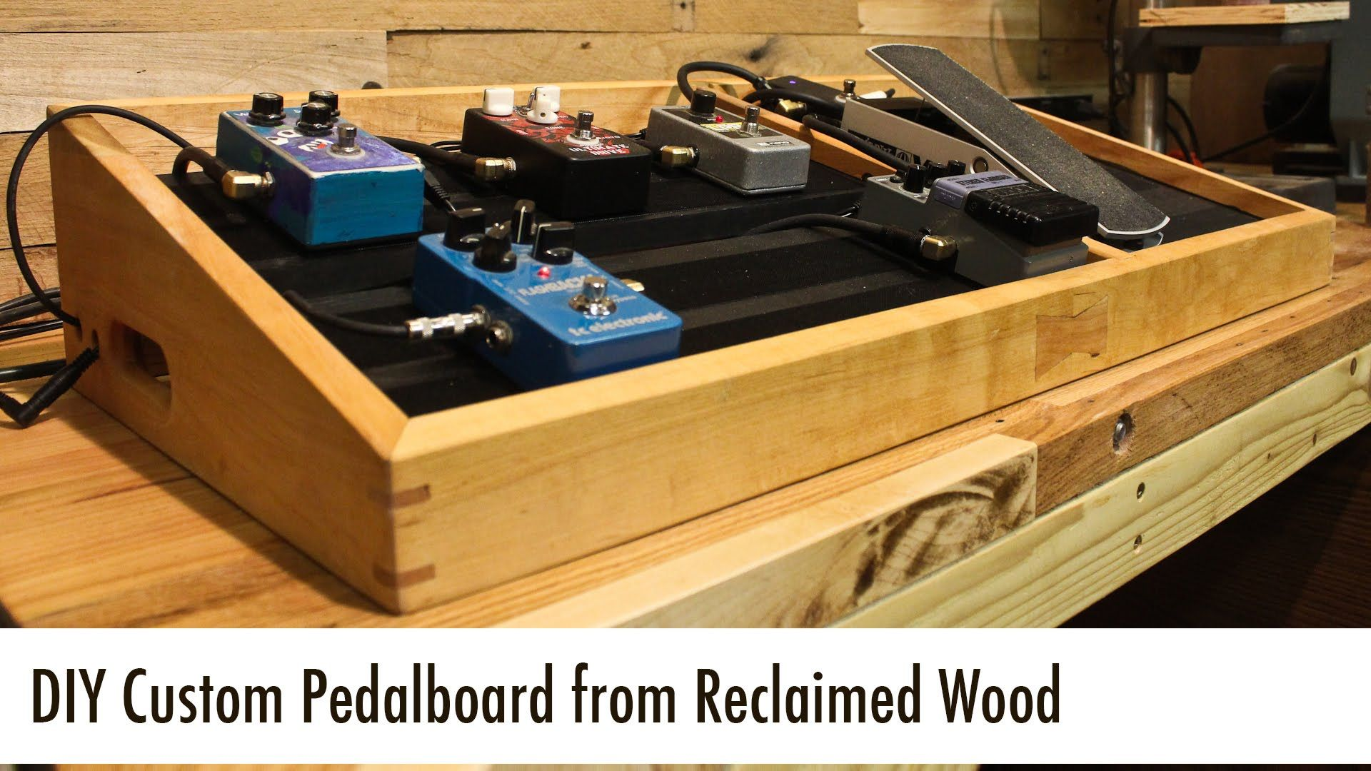 diy custom pedalboard from reclaimed wood projects diy pedalboard pedalboard small guitar. Black Bedroom Furniture Sets. Home Design Ideas