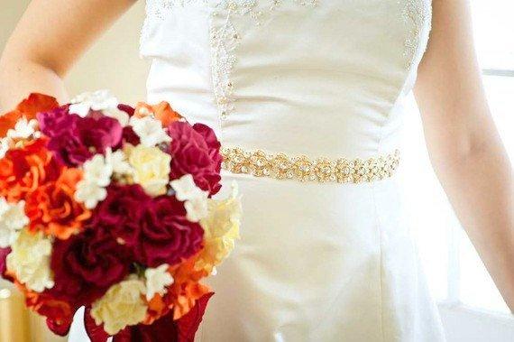 Gold Belt Gold Sash Wedding Belt Wedding Sash Crystal Belt
