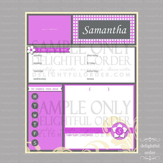 Custom  Purple  All In One Message Center  by DelightfulOrder, $57.00