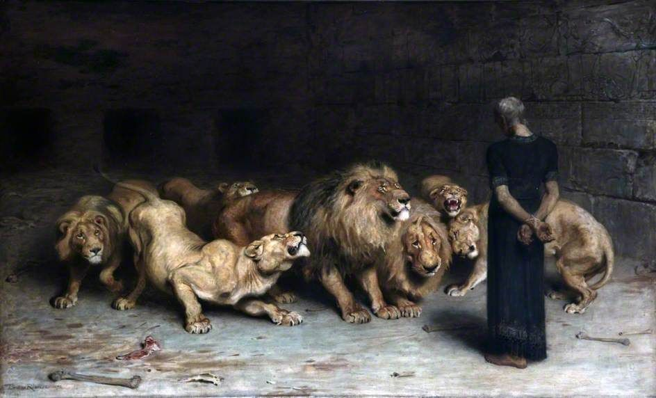 Daniel In The Lions Den Painting by Briton Riviere ...