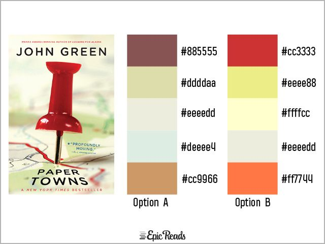23 Exquisite Palettes Inspired By Our Favorite Ya Book Covers Epic Reads Blog Ya Book Covers Paper Towns Ya Books