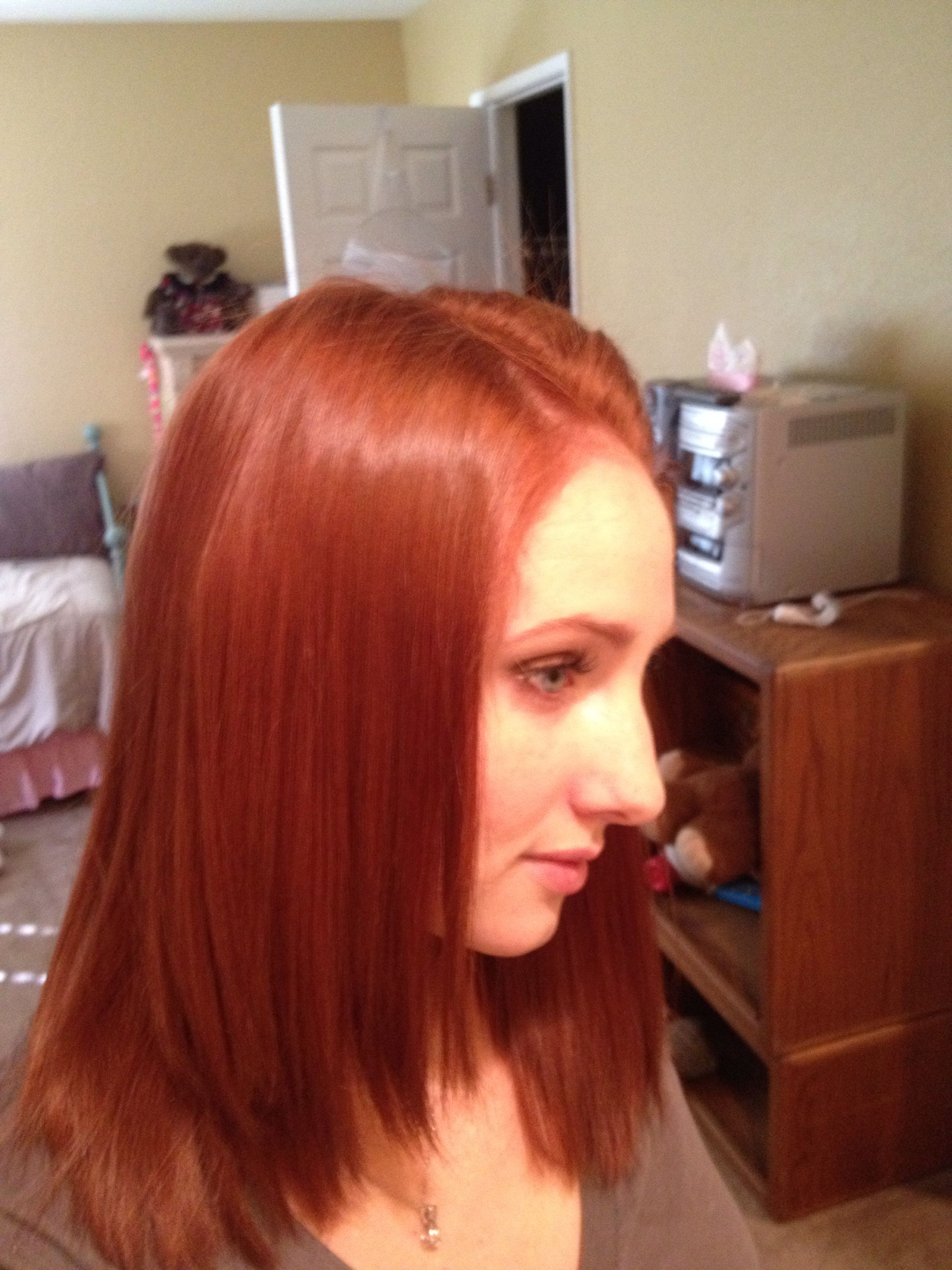 My New Fall Hair Color I Used Revlon Colorsilk Light Reddish Brown 55 Medium Auburn 42 Mix Together In A Large Bottle And Ly To Entire Length