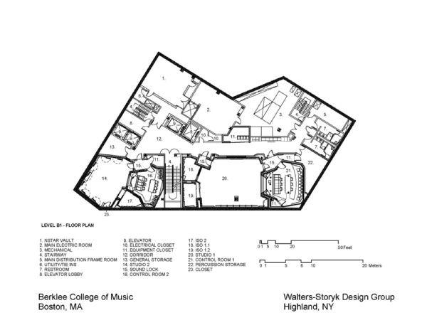 Floor plan, Berklee College of Music - 160 Mass Ave. Boston, MA (USA ...