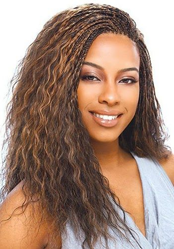 Curly Micro Braids Hairstyles For Black Women Styles Braided