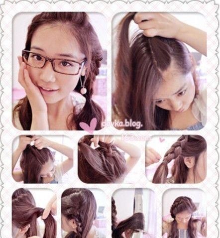 Cute Hairstyle Steps The Sweet Bangs Hairstyle Diy Tutorial Incarnation Of Pure Korean Korean Hairstyle Diy Hairstyles Hairstyles With Bangs