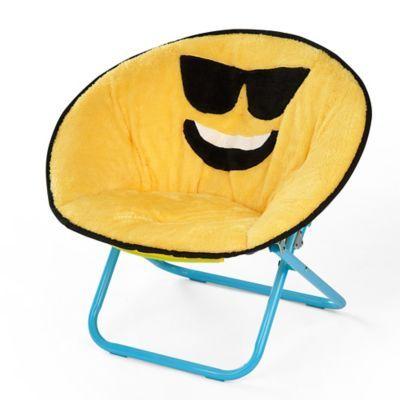 Best Heritage Kids Microfiber Emoji Chair In Yellow Blue 400 x 300