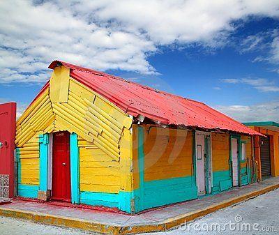 caribbean houses   colorful caribbean houses tropical isla mujeres