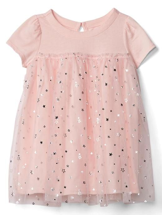 160972168fa1 Gap Baby Short Sleeve Tulle Dress Pink Cameo | Products | Baby girl ...