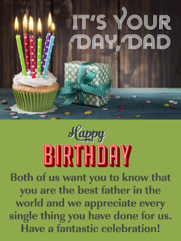 We Appreciate You Happy Birthday Card For Father From Us Birthday Greeting Cards By Davia Happy Birthday Cards Cupcake Birthday Cards Birthday Wishes Flowers