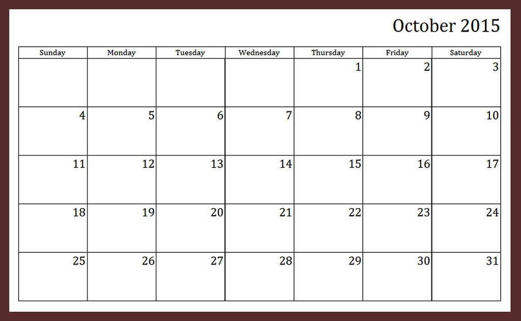 Free Download Calendar October 2015 Pictures, Images, Templates