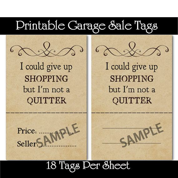primitive shopping quotes garage sale by captivatingcrafts4u 150