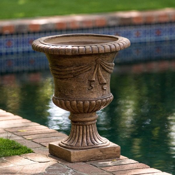 Garden Pots And Planters Flower Large Outdoor Stone Unique Tall Patio  Statue Urn