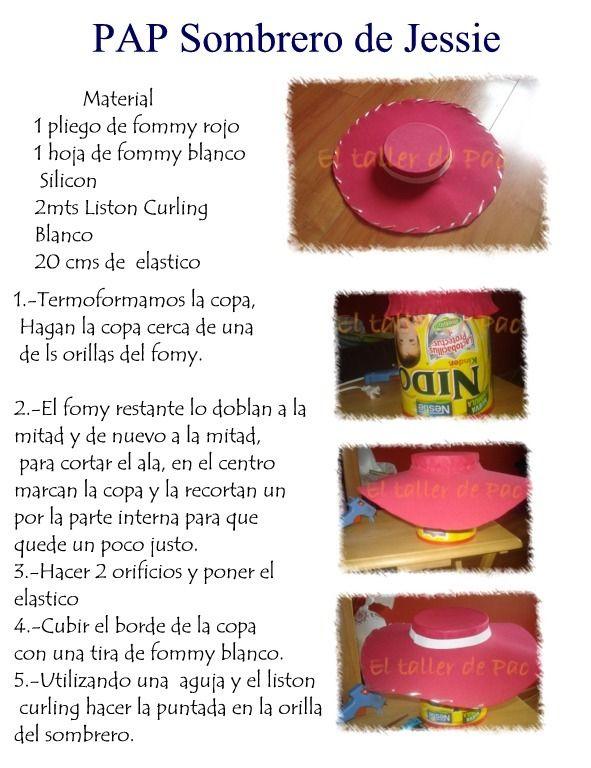 Moldes del sombrero de woody - Imagui  c44d041e4eb