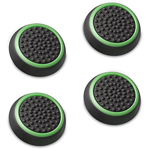 Linghang Set of 4 Analog Stick Joystick Controller Performance Thumb Grips for PS4  PS3  Xbox ONE  Xbox 360  Wii U Black  Green >>> Details can be found by clicking on the image.Note:It is affiliate link to Amazon.