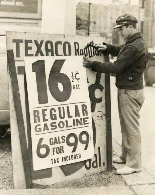 Gas Prices, 1939. pic.twitter.com/j5jG9YfD0e...close to '34