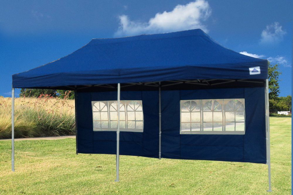 10x20 Pop Up 6 Walls Canopy Party Tent Gazebo Ez Navy Blue F Model Upgraded Frame By Delta Canopies To View Further For This Item Vi Gazebo Party Tent Tent