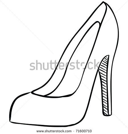 High Heel Stock Vector 71600710 Shutterstock Shoe Template Paper Shoes Shoe Pattern