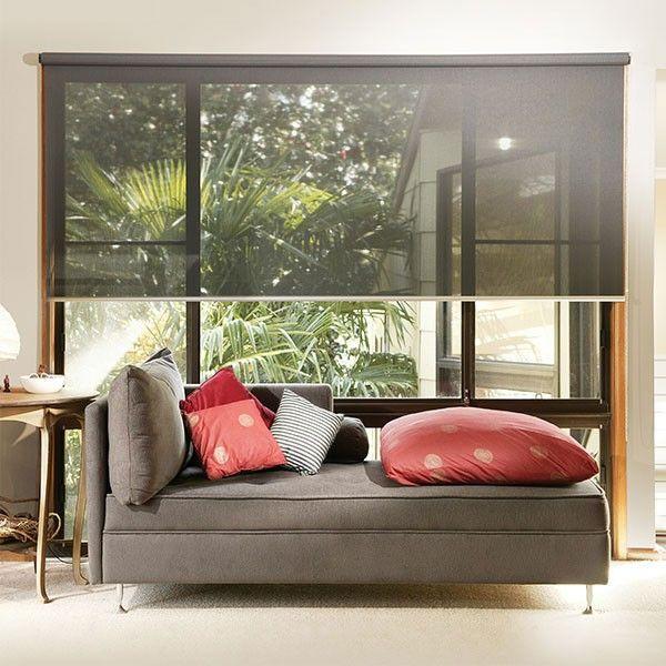 Store enrouleur Charbon gris 3001 180x120 cm COVER GLASS Rideaux - store enrouleur screen interieur