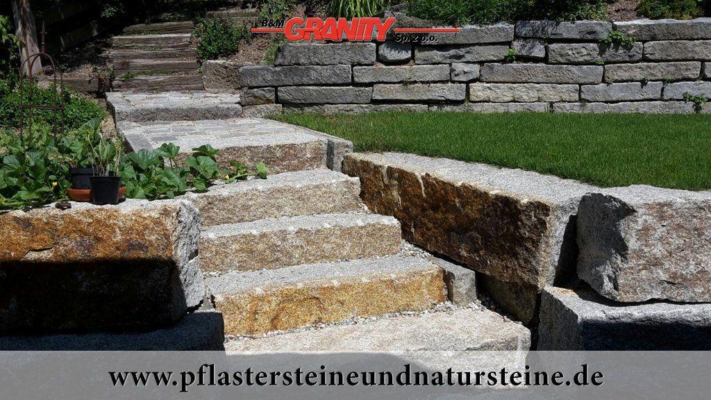 Firma B M Granity Rustikale Pflastersteine Mauersteine Quader Blocke Blockstufen Platten Usw Aus Polnischen U Natursteine Mauerstein Granit Mauersteine
