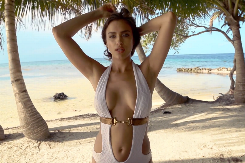 Sexy white girl half naked