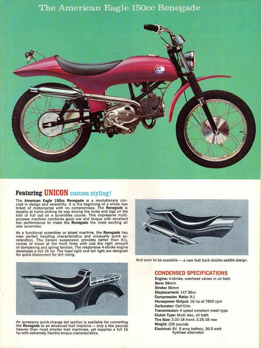 Alternate Laverda Project – 1971 American Eagle Renegade 150 – Bike