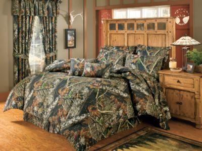 Mossy Oak Mini Comforter Set Queen Bedding Camouflage Hunters Outdoors Lodge NEW