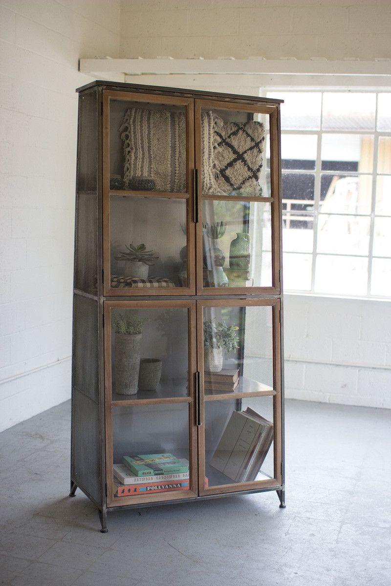 Metal Wood Slanted Display Cabinet Glass Doors In 2020 Glass Cabinet Doors Glass Cabinets Display Glass Bookcase