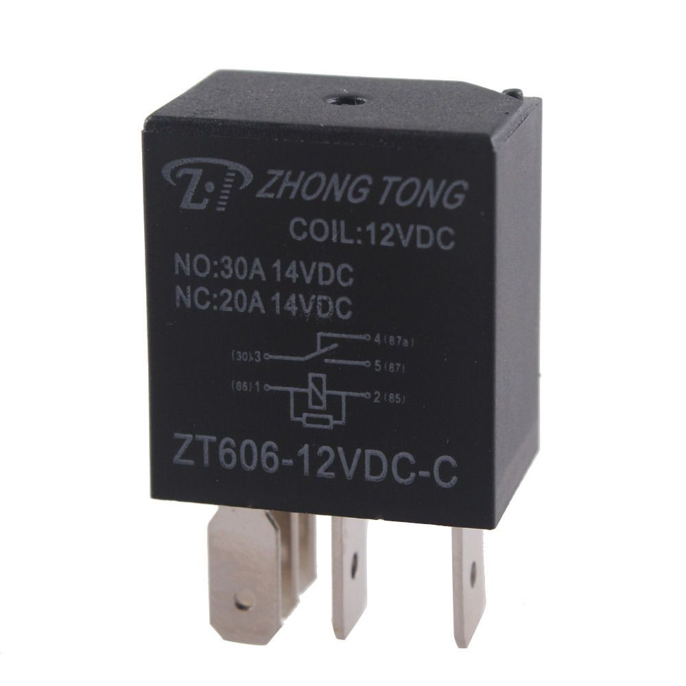 EE Support DC 12V 30A AMP 5Pin Car Motor Relay Kit For Fan