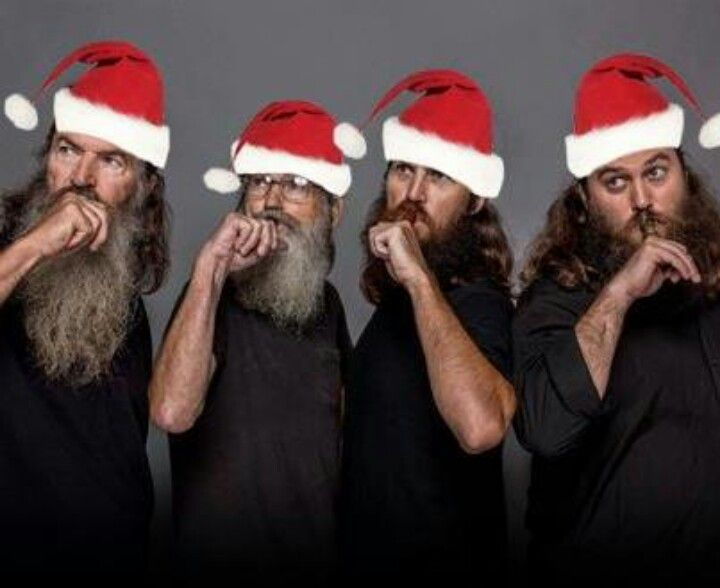 The Duck Dynasty Men In Santa Hats! Your Welcome And Merry