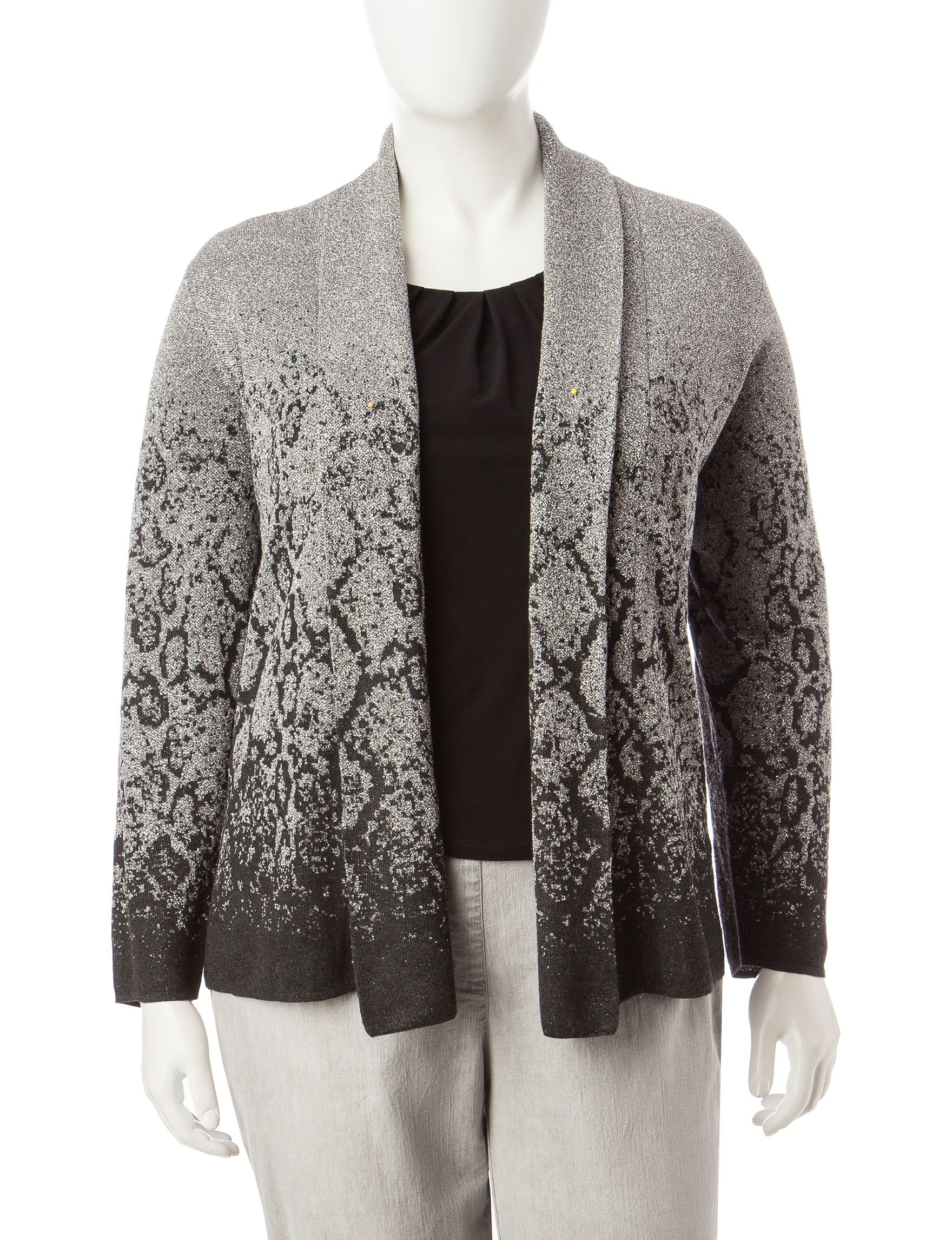 9.99 Ruby Road Plus-size Ombre Snake Print Cardigan | Mom options ...