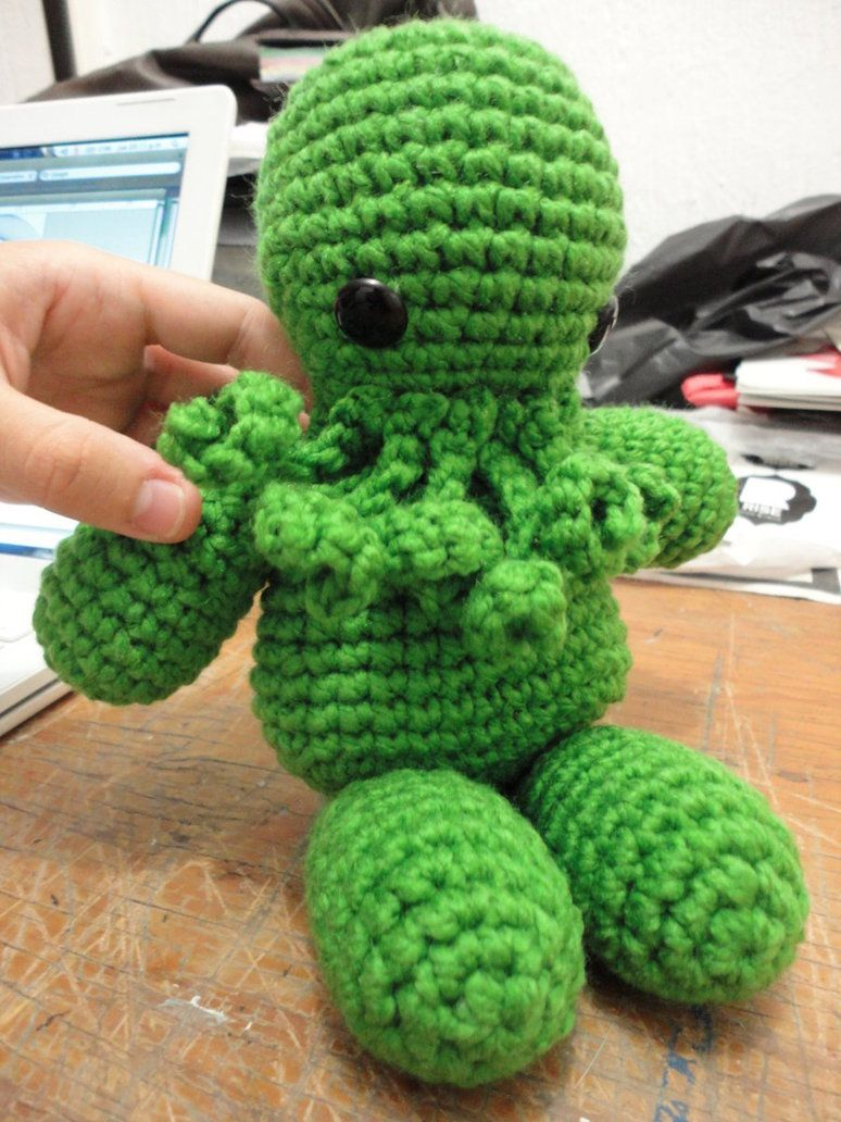 Speed-Crafting: Crocheted Cthulhu Amigurumi (Time Lapsed) - YouTube | 1032x774