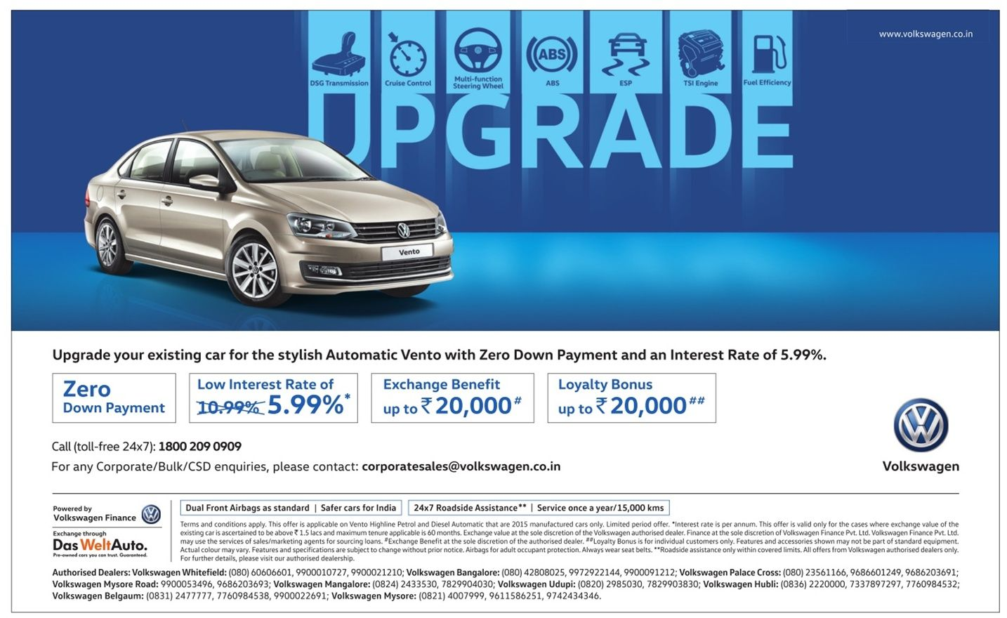 Best time to buy volkswagen vento amazing discount offers in may 2016