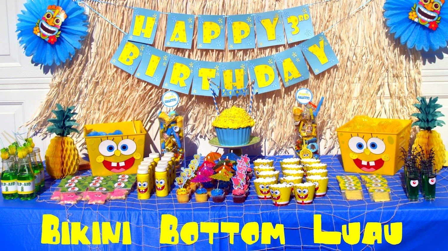Spongebob Luau Party LOVE this set up!  sc 1 st  Pinterest & SpongeBob Birthday Party Display luau....could reuse some stuff from ...