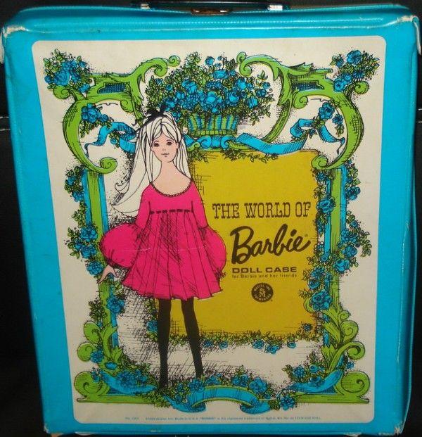 MATTEL: 1968 The World of Barbie Doll Case #Vintage #Toys #vintagetoys