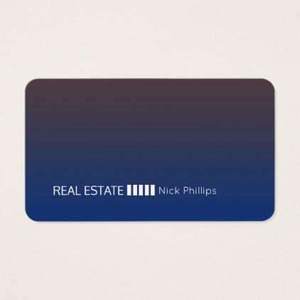 Modern Futuristic Gradient Rounded Business Card