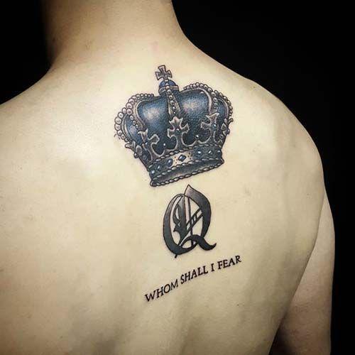 Man Crown Tattoo On Back Erkek Taç Dövmesi Sırt Creative Tattoo