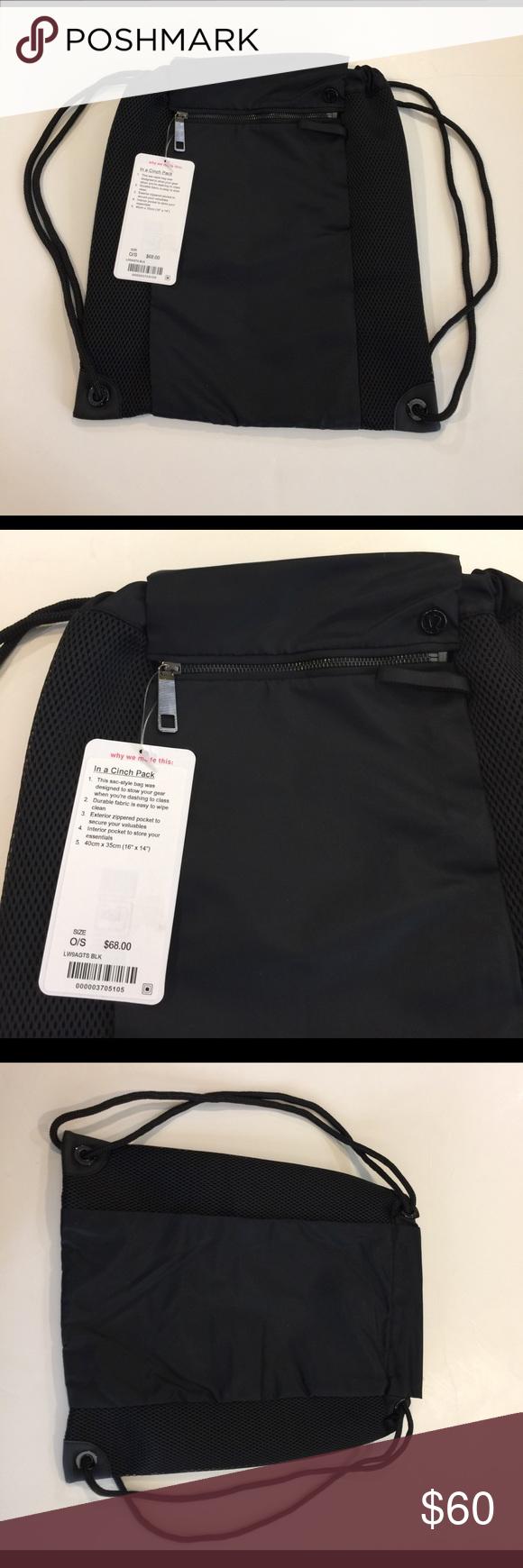 NWT In a Cinch Pack NWT lululemon athletica Bags Backpacks