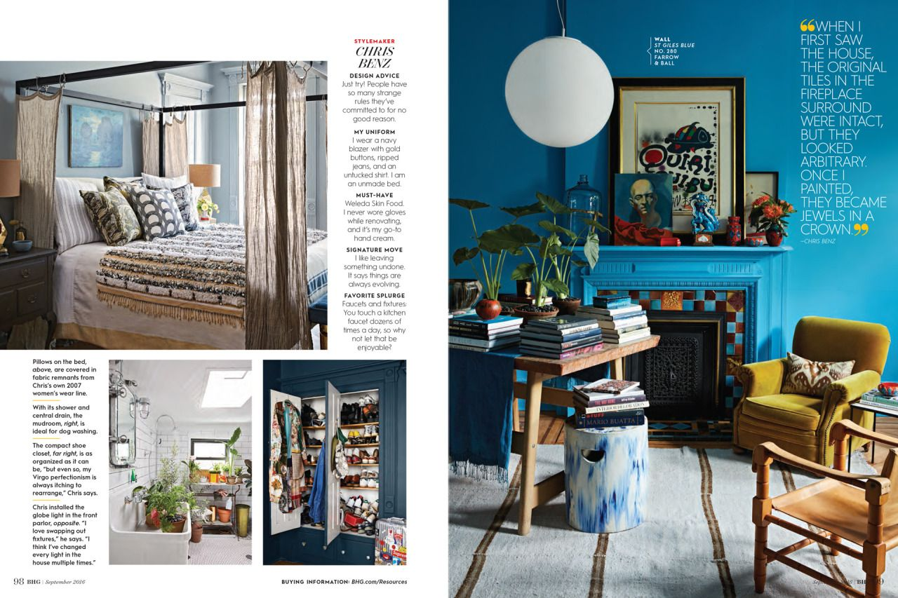 artful lodger for better homes and gardens photographing bill blass creative