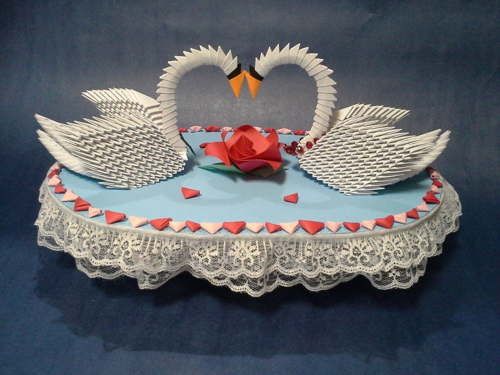 3-D Origami Wedding Swans by pandanpandan on DeviantArt ... - photo#47