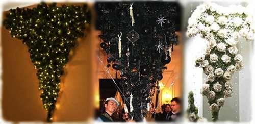 Upside Down Black Christmas Tree