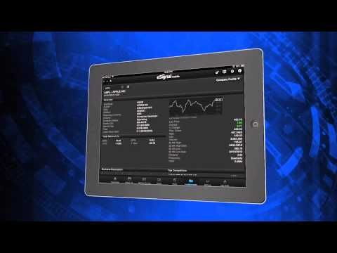 Real Time Stock Quotes Beauteous Get Real Time Stock Quotes On Your Ipad  Esignal Mobile  Forex